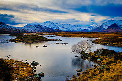 End of a winters day at Lochan na h-Achlaise, Rannoch Moor, Highlands of Scotland<br /> <br /> (c) Andrew Wilson | Edinburgh Elite media