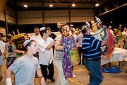 Israel, Kibbutz Ashdot Yaacov, Simchat Torah celebrations marking the conclusion of the annual cycle of public Torah readings,