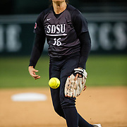 21 February 2017:  The San Diego State Aztec's softball team hosts Siena Tuesday night. The Aztecs beat the Saints 10-4. <br /> www.sdsuaztecphotos.com