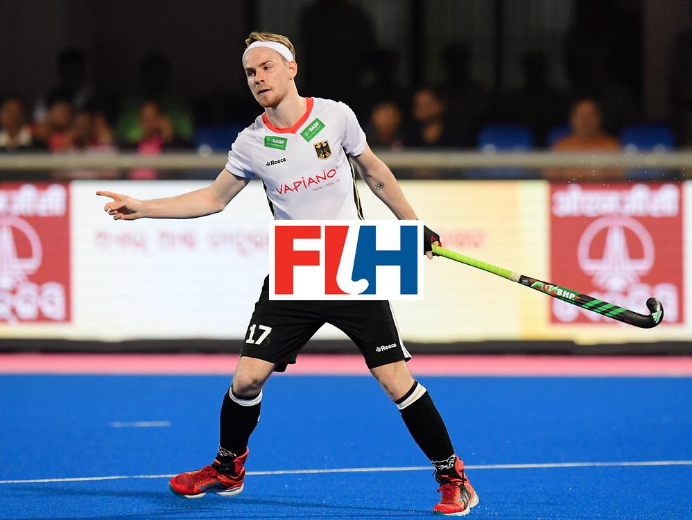 Odisha Men's Hockey World League Final Bhubaneswar 2017<br /> Match id:01<br /> Germany v England<br /> Foto: Christopher Ruhr scores   2-0 <br /> WORLDSPORTPICS COPYRIGHT FRANK UIJLENBROEK