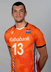14-05-2018 NED: Team shoot Dutch volleyball team men, Arnhem<br /> Niels de Vries #13 of Netherlands