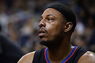 PHOENIX, AZ - APRIL 13:  Paul Pierce (34) of the Los Angeles Clippers looks on from the bench in the first half of the NBA game against the Phoenix Suns at Talking Stick Resort Arena on April 13, 2016 in Phoenix, Arizona.  NOTE TO USER: User expressly acknowledges and agrees that, by downloading and or using this photograph, User is consenting to the terms and conditions of the Getty Images License Agreement. (Photo by Jennifer Stewart/Getty Images)