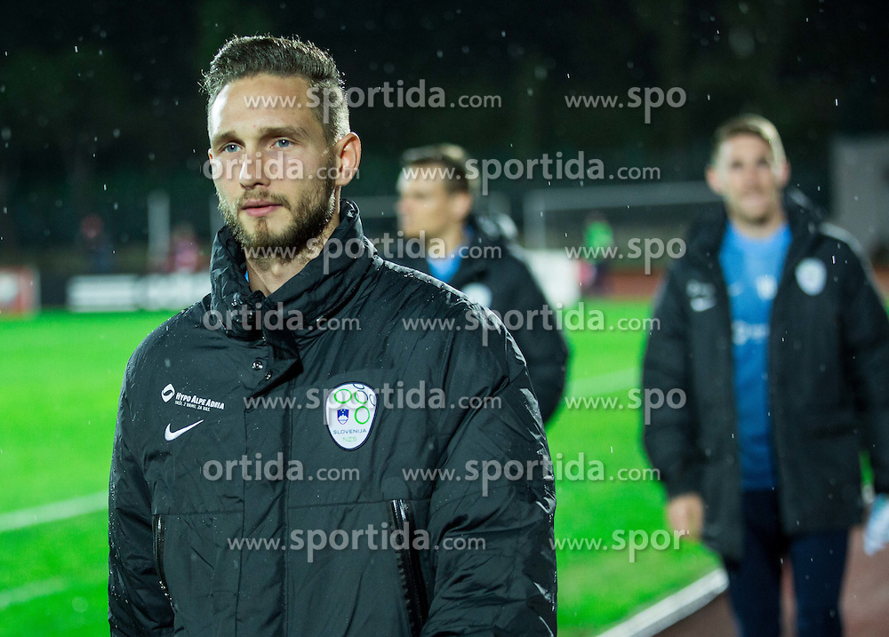 Tim Matavz of Slovenia prior to the football match between National teams of San Marino and Slovenia in Group E of EURO 2016 Qualifications, on October 12, 2015 in Stadio Olimpico Serravalle, Republic of San Marino. Photo by Vid Ponikvar / Sportida
