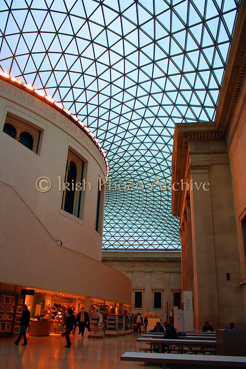 Queen Elizabeth II Great Court at the British Museum, UK. Designed by Fosters and Partners and opened in 2000 AD. Europe's largest covered public square.