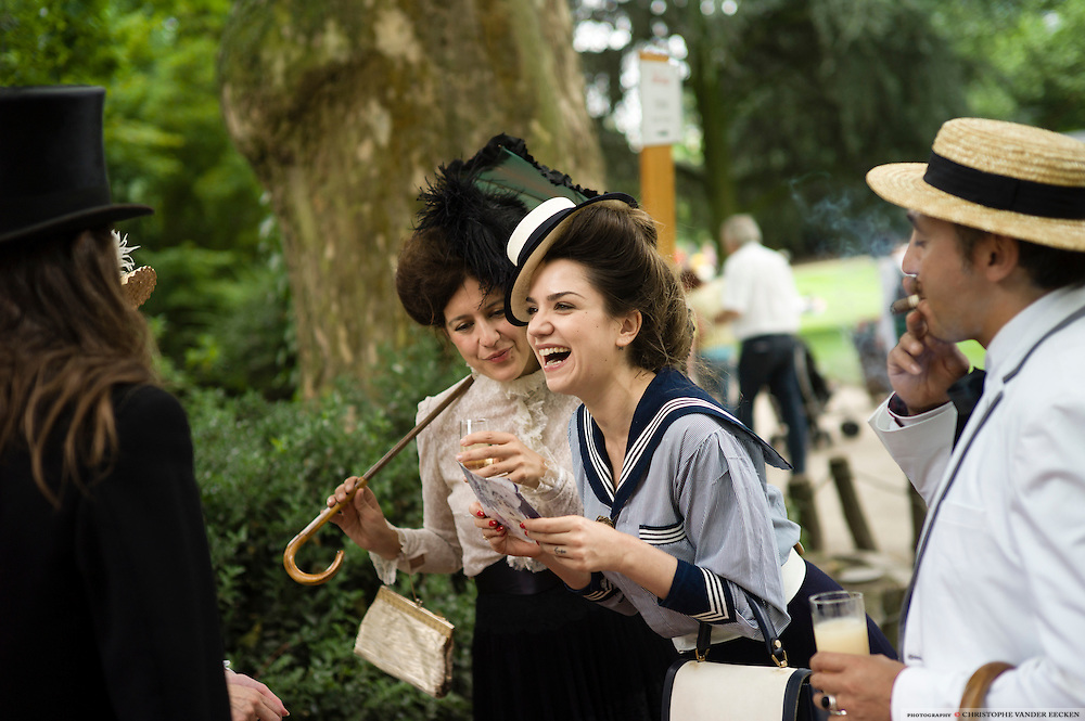 Antwerp, Belgium, 20 july 2013, Zoo celebrates 170 yrs of existance with Belle Epoque picnic. Photo © Christophe Vander Eecken