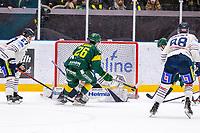 2020-01-03 | Umeå, Sweden: Björklöven (90) Alex Hutchings scores 2-0 to IF Björklöven in HockeyAllsvenskan during the game  between Björklöven and Karlskoga at A3 Arena ( Photo by: Michael Lundström | Swe Press Photo )<br /> <br /> Keywords: Umeå, Hockey, HockeyAllsvenskan, A3 Arena, Björklöven, Karlskoga, mlbk200103