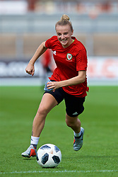 NEWPORT, WALES - Thursday, August 30, 2018: Wales' Kylie Nolan during a training session at Rodney Parade ahead of the final FIFA Women's World Cup 2019 Qualifying Round Group 1 match against England. (Pic by David Rawcliffe/Propaganda)
