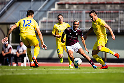 Tijanic David of NK Triglav and Klemencic Tilen of NK Domzale during football match between NK Triglav and NK Domzale in 9th Round of Prva liga Telekom Slovenije 2019/20, on September 15, 2019 in Sport park Kranj, Kranj, Slovenia. Photo by Grega Valancic / Sportida