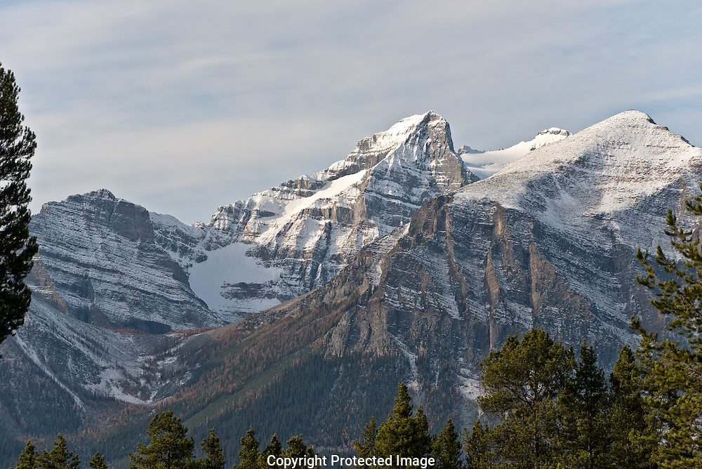 Saddleback and Haddo Peak at dawn., Alberta, Canada, Isobel Springett
