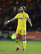 Callum Kennedy (23) of AFC Wimbledon during the EFL Sky Bet League 1 match between Plymouth Argyle and AFC Wimbledon at Home Park, Plymouth, England on 13 February 2018. Picture by Graham Hunt.