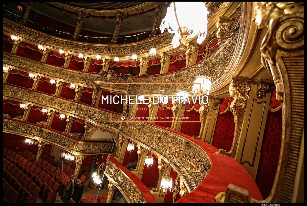 Teatro Carignano al termine dei lavori di restauro, sede storica della Fondazione del Teatro Stabile di Torino...