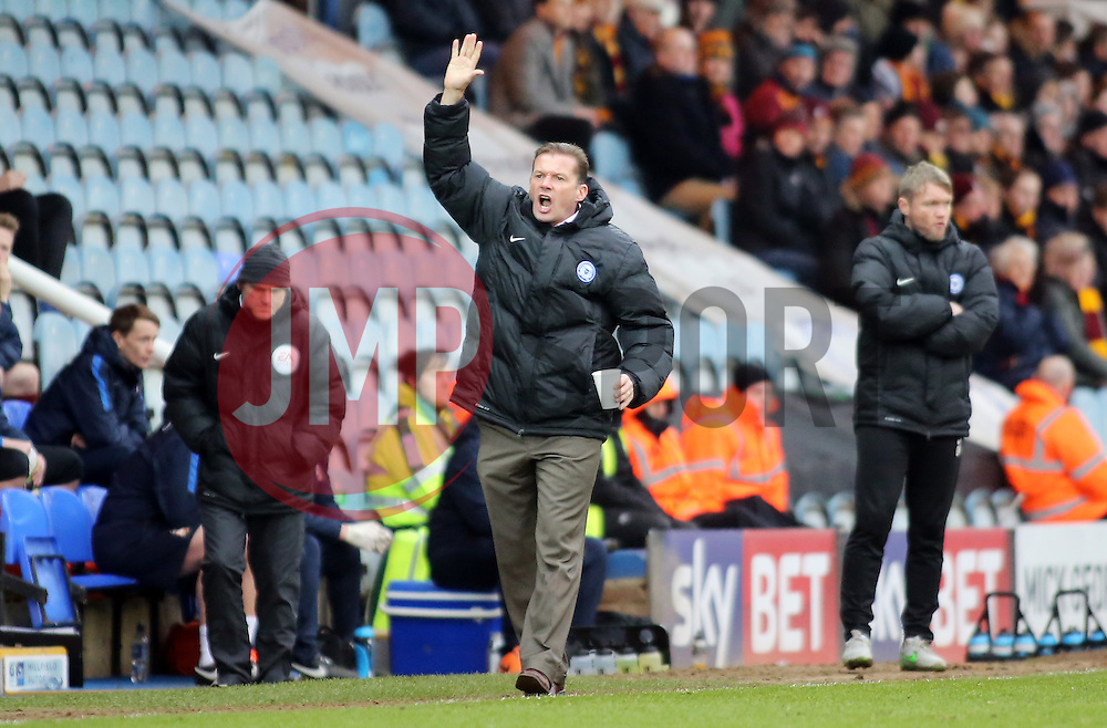 Peterborough United Manager Graham Westley shouts in frustration from the touchline - Mandatory byline: Joe Dent/JMP - 13/02/2016 - FOOTBALL - ABAX Stadium - Peterborough, England - Peterborough United v Bradford City - Sky Bet Championship