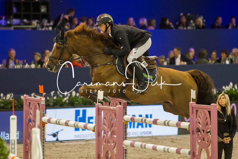 Hassmann Felix, GER, Balzaci<br /> Jumping Amsterdam 2018<br /> © Sharon Vandeput<br /> 26/01/18