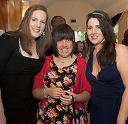 Niamh Coyne, GMIT, Linda O'Connell Ballybane and Olivia Barden GMIT at the Ability West Best Buddy Ball and award night at the Menlo Park Hotel Galway. Photo:Andrew Downes.