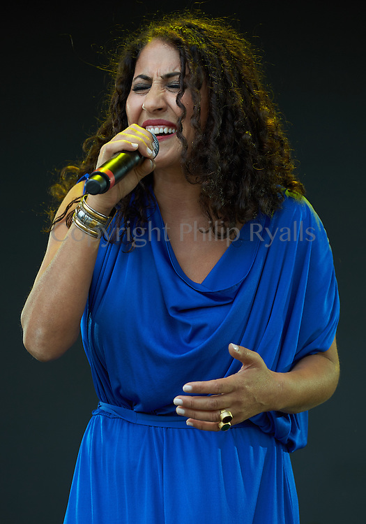 MALMESBURY, UK - JULY 31: Aynur performs on stage at Womad on July 31st, 2016 in Wiltshire, United Kingdom. (Photo by Philip Ryalls)**Aynur
