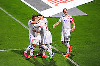 Joie Lyon - Maxime GONALONS - 19.04.2015 - Lyon / Saint Etienne - 33eme journee de Ligue 1<br /> Photo : Jean Paul Thomas / Icon Sport