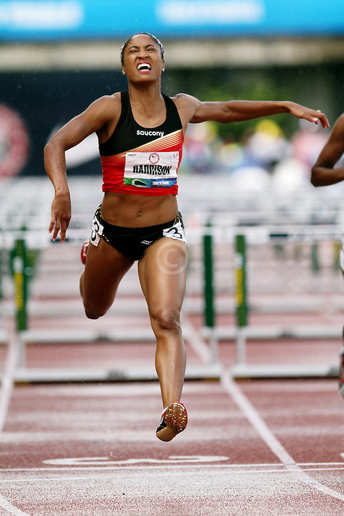 Olympic Trials Eugene 2012:  womens 100 hurdles, Queen Harrison