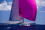Zefiro sailing in the Caribbean Superyacht Regatta and Rendezvous, race 1.