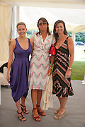 VICTORIA LIMATA; KATY GREEN; SONIA SIMICH, The Dalwhinnie Crook  charity Polo match  at Longdole  Polo Club, Birdlip  hosted by the Halcyon Gallery. . 12 June 2010. -DO NOT ARCHIVE-© Copyright Photograph by Dafydd Jones. 248 Clapham Rd. London SW9 0PZ. Tel 0207 820 0771. www.dafjones.com.