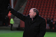 Gary Johnson during the FA Trophy match between Cheltenham Town and Chelmsford City at Whaddon Road, Cheltenham, England on 12 December 2015. Photo by Antony Thompson.