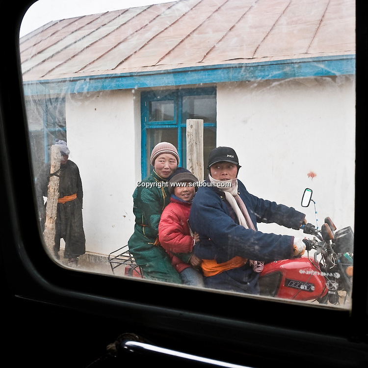 Mongolia. Uyanga village in winter  ovokangai - Mongolia   / village de Uyanga en Hiver  ovokangai - Mongolie