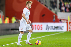 November 15, 2018 - Gdansk, Poland, JAKUB BLASZCZYKOWSKI from Poland during football friendly match between Poland - Czech Republic at the Stadion Energa in Gdansk, Poland