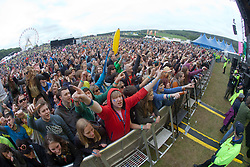 Friendly Fires play the main stage..Sunday at Rockness 2012..©Michael Schofield..