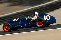 MONTEREY, CA - AUGUST 18:  Joe Freeman races a 1938 Sparks-Thorne Little 6 in the 1927-1950 racing cars race during the Monterey Historic Automobile Races at the Mazda Raceway Laguna Seca on August 18, 2007 in Monterey, California.  (Photo by David Paul Morris)