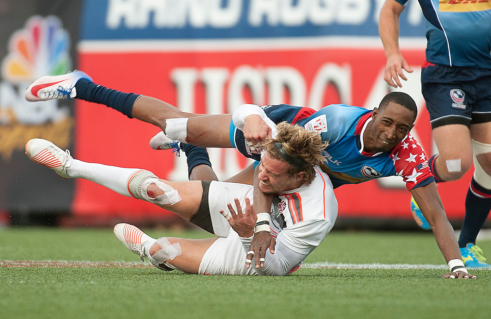 Mens teams take part in the final match of the pool stage for the USA Sevens,  Round Five of the World Rugby HSBC Sevens Series in Las Vegas, Nevada, March 4, 2017. <br /> <br /> Jack Megaw for USA Sevens.<br /> <br /> www.jackmegaw.com<br /> <br /> jack@jackmegaw.com<br /> @jackmegawphoto<br /> [US] +1 610.764.3094<br /> [UK] +44 07481 764811