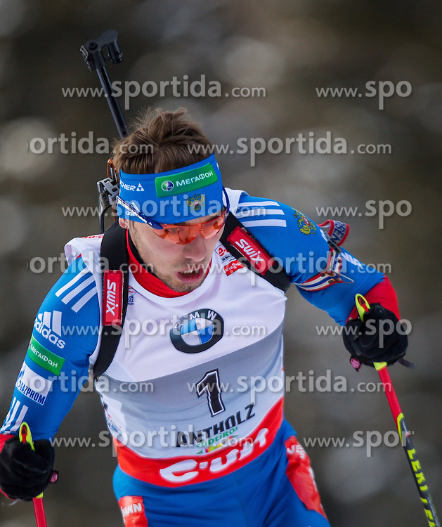 19.01.2013, Suedtirol Arena, Antholz, ITA, E. ON IBU Weltcup, Verfolgung, Herren, im Bild Anton Shipulin (RUS) // Anton Shipulin of Russia  during Mens Pursuit of E. ON IBU Biathlon World Cup at the Biathlonstadium in Anterselva, Italy on 2013/01/19. EXPA Pictures © 2013, PhotoCredit: .EXPA/ Juergen Feichter