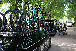 Drops Cycling Team riders prepare for Stage 2 of the Ladies Tour of Norway - a 140.4 km road race, between Sarpsborg and Fredrikstad on August 19, 2017, in Ostfold, Norway. (Photo by Balint Hamvas/Velofocus.com)