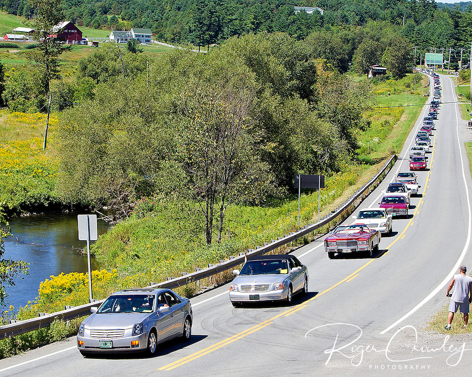 BARTON VT - 144th Orleans County Fair in the scenic Northeast Kingdom village of Barton, Vermont broke the Guinness World Records of the longest Cadillac Parade in history with 298 cars Wednesday in Barton Vermont. Cars stretched for miles along Route 2 between Barton and Orleans Vermont...