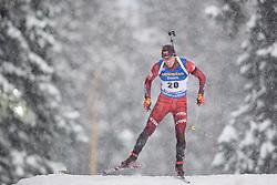 March 9, 2019 - –Stersund, Sweden - 190309 Karol Dombrovski of Lithuania competes in the Men's 10 KM sprint during the IBU World Championships Biathlon on March 9, 2019 in Östersund..Photo: Petter Arvidson / BILDBYRÃ…N / kod PA / 92252 (Credit Image: © Petter Arvidson/Bildbyran via ZUMA Press)