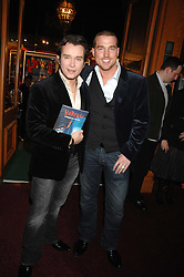 Left to right, singer STEPHEN GATELY and ANDREW COWLES at the gala night of Varekai by Cirque du Soleil at The Royal Albert Hall, London on 8th January 2008.<br />
