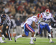Louisiana Tech's Lennon Creer (5) runs in Oxford, Miss. on Saturday, November 12, 2011.