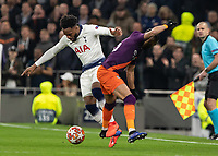 Football - 2018 / 2019 UEFA Champions League - Quarter Final , First Leg: Tottenham Hotspur vs. Manchester City<br /> <br /> Danny Rose (Tottenham FC) tangles with Riyad Mahrez (Manchester City) at White Hart Lane Stadium.<br /> <br /> COLORSPORT/DANIEL BEARHAM