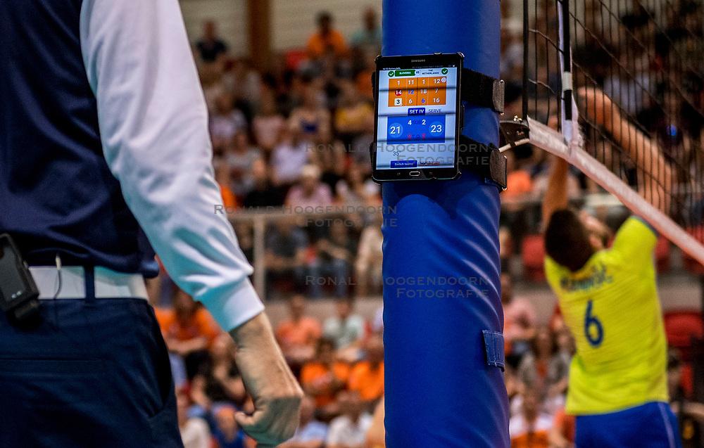 20-05-2018 NED: Netherlands - Slovenia, Doetinchem<br /> First match Golden European League / iPad, statistics, match