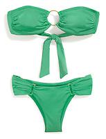 kelly green sexy bikini top and bottom