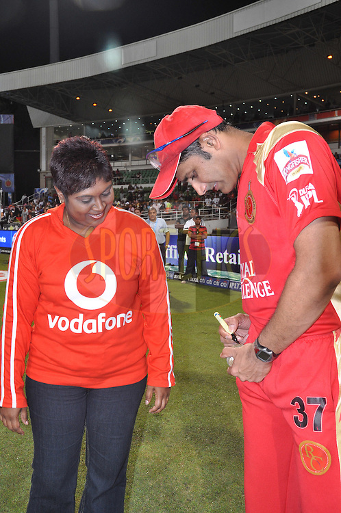 DURBAN, SOUTH AFRICA - 1 Mayl 2009.Ball signing  during the IPL Season 2 match between Kings X1 Punjab and the Royal Challengers Bangalore held at Sahara Stadium Kingsmead, Durban, South Africa..