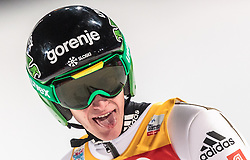 06.01.2016, Paul Ausserleitner Schanze, Bischofshofen, AUT, FIS Weltcup Ski Sprung, Vierschanzentournee, Bischofshofen, Finale, im Bild Peter Prevc (SLO) // Peter Prevc of Slovenia celebrates after his 1st round jump of the Four Hills Tournament of FIS Ski Jumping World Cup at the Paul Ausserleitner Schanze in Bischofshofen, Austria on 2016/01/06. EXPA Pictures © 2016, PhotoCredit: EXPA/ JFK