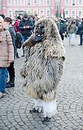 Busó carnival, Mohács, Hungary (7 February 2016). The Busó carnival or Busójárás is inscribed on the UNESCO list of Intangible Cultural Heritage. © Rudolf Abraham