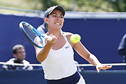 Veronica Cepede Royg of Paraguay during the Women's Singles Quarter Final at the Fuzion 100 Ilkley Lawn Tennis Trophy Tournament held at Ilkley Lawn Tennis and Squad Club, Ilkley, United Kingdom on 19 June 2019.