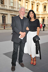 DAVID GILMOUR and POLLY SAMSON at the Royal Academy of Arts Summer Exhibition Preview Party at Burlington House, Piccadilly, London on 2nd June 2011.
