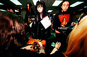"Nu Metal ""Cradle Of Filth"" fans wait for poster to be signed, UK 2000's."