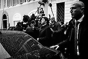 Matteo Renzi dopo l'assemblea dei grandi elettori del Pd in previsione delle votazioni per l'elezione del nuovo Presidente della Repubblica, Roma 12 Aprile 2015.  Christian Mantuano / OneShot