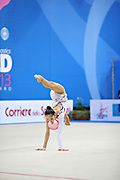 Minagawa Kaho of Japan competes during Individual qualification of bal in the World Cup at Adriatic Arena on April 26, 2013 in Pesaro, Italy. Kaho was born on August 20,1997 in Chiba Prefecture, Japan.