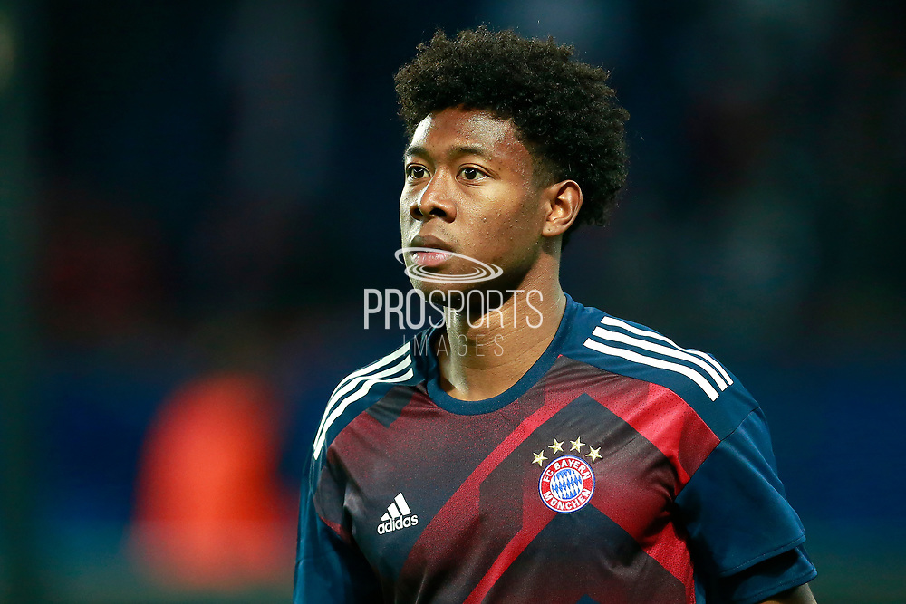 Bayern Munich's Austrian defender David Alaba enters the pitch during the UEFA Champions League, Group B football match between Paris Saint-Germain and Bayern Munich on September 27, 2017 at the Parc des Princes stadium in Paris, France - Photo Benjamin Cremel / ProSportsImages / DPPI