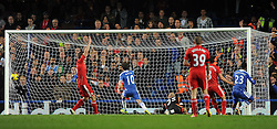 20.11.2011, Stamford Bridge Stadion, London, ENG, PL, FC Chelsea vs FC Liverpool, 12. Spieltag, im Bild Chelsea's Daniel Sturridge scores the equaliser during the football match of English premier league, 12th round, between FC Chelsea and FC Liverpool at Stamford Bridge Stadium, London, United Kingdom on 20/11/2011. EXPA Pictures © 2011, PhotoCredit: EXPA/ Sportida/ Chris Brunskill..***** ATTENTION - OUT OF ENG, GBR, UK *****