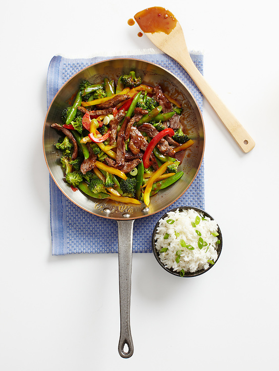 Peanut Butter and Hot Pepper Jelly Steak Stir-fry