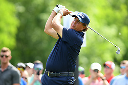 May 3, 2019 - Charlotte, NC, U.S. - CHARLOTTE, NC - MAY 03: Phil Mickelson plays his shot from the 13th tee in round two of the Wells Fargo Championship on May 03, 2019 at Quail Hollow Club in Charlotte,NC. (Photo by Dannie Walls/Icon Sportswire) (Credit Image: © Dannie Walls/Icon SMI via ZUMA Press)